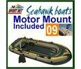 Intex Seahawk 400 Boat Set 4 Person Raft W Motor Mount